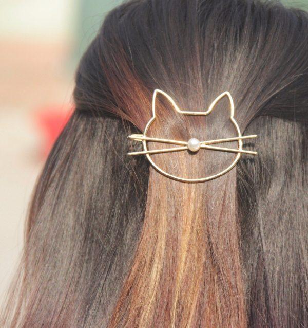 Spona do vlasov - mačka 2 - pre milovníkov mačiek