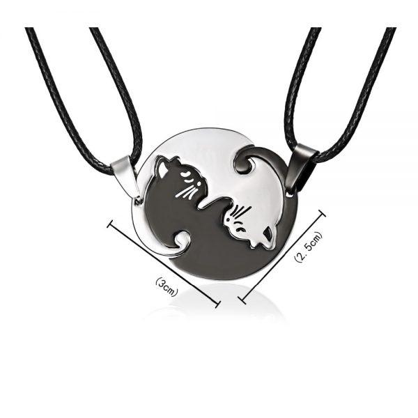 Rozpojovací náhrdelník - jin a jang 2 - pre milovníkov mačiek