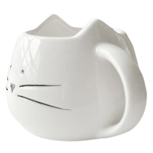 Hrnček - mačacia tvár - biely 4 - pre milovníkov mačiek