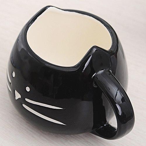 Hrnček - mačacia tvár - čierny 3 - pre milovníkov mačiek