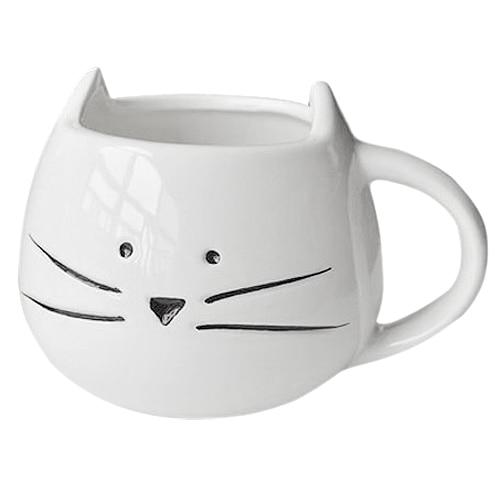 Hrnček - mačacia tvár - biely 1 - pre milovníkov mačiek