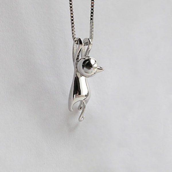 Náhrdelník - visiaca mačička 6 - pre milovníkov mačiek