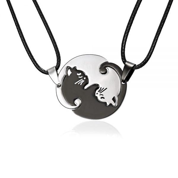 Rozpojovací náhrdelník - jin a jang 1 - pre milovníkov mačiek