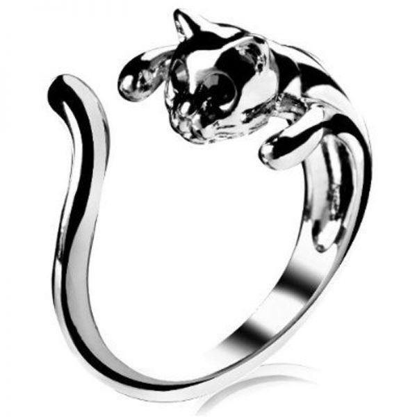 Prstienok obmotaná mačka 1 - pre milovníkov mačiek