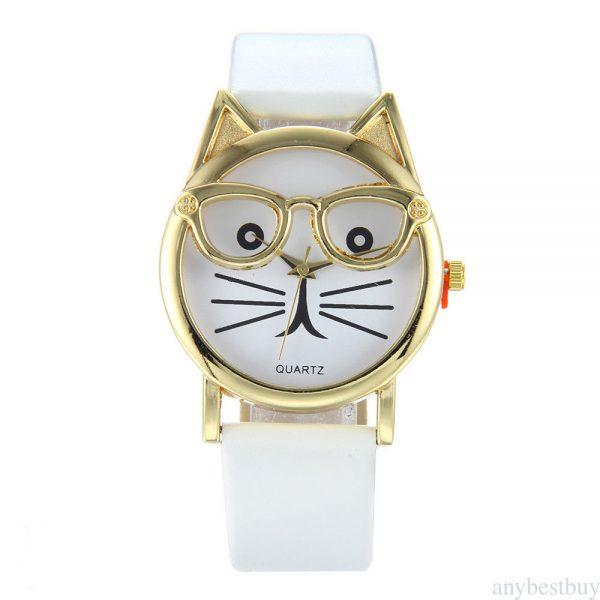 Hodinky - mačka s okuliarmi 1 - pre milovníkov mačiek