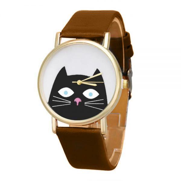 Hodinky čierná mačka 1 - pre milovníkov mačiek