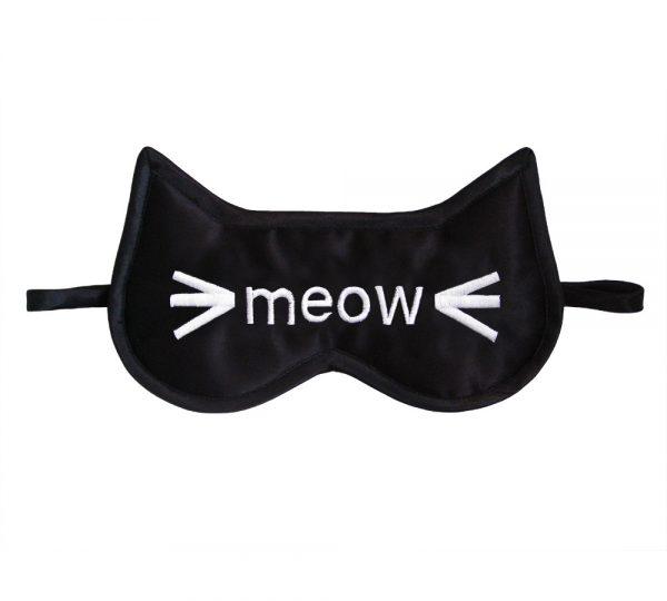 Maska na spanie - meow 1 - pre milovníkov mačiek