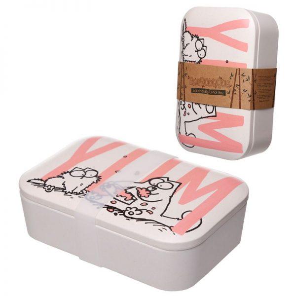 Krabička na jedlo z bambusového kompozitu Simon 's Cat 3 - pre milovníkov mačiek