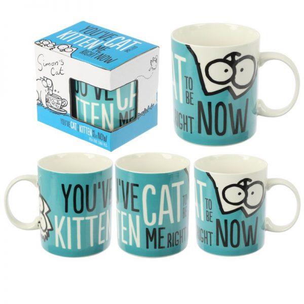 Porcelánový hrnček Simon's Cat - Kitten Slogan 3 - pre milovníkov mačiek