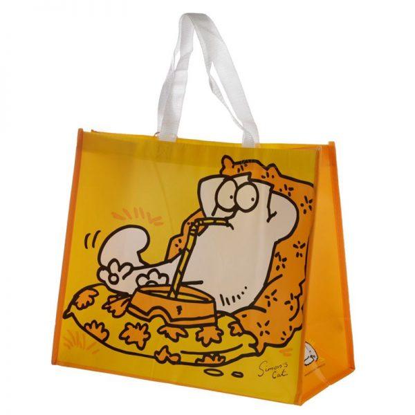 Simon's Cat - žltá nákupná taška 1 - pre milovníkov mačiek