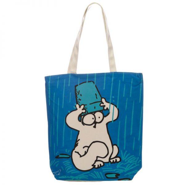 Látková taška se zipem Simon's Cat, modrá 1 - pre milovníkov mačiek