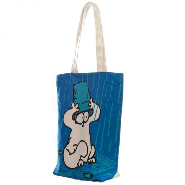 Látková taška se zipem Simon's Cat, modrá 2 - pre milovníkov mačiek