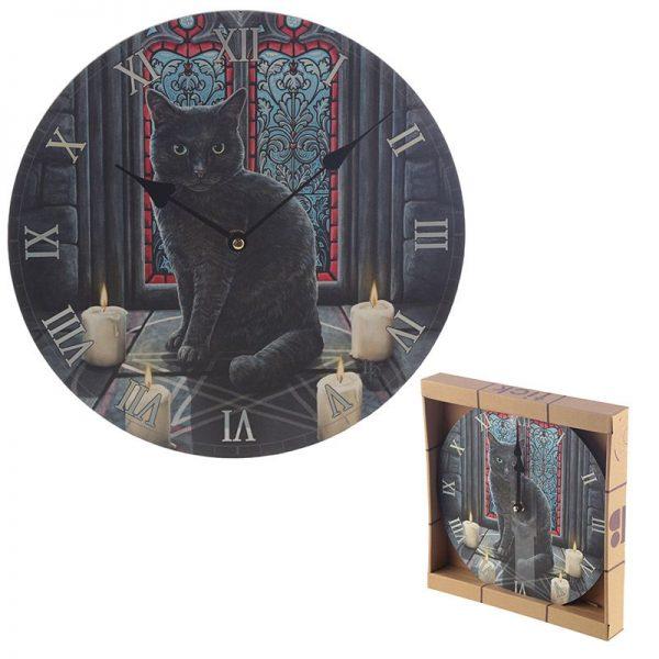 Nástěnné hodiny Posvátný kruh, design Lisa Parker 1 - pre milovníkov mačiek
