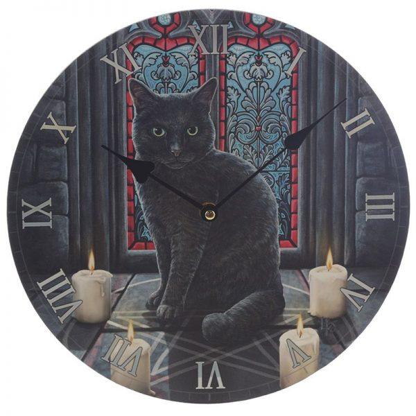 Nástěnné hodiny Posvátný kruh, design Lisa Parker 2 - pre milovníkov mačiek