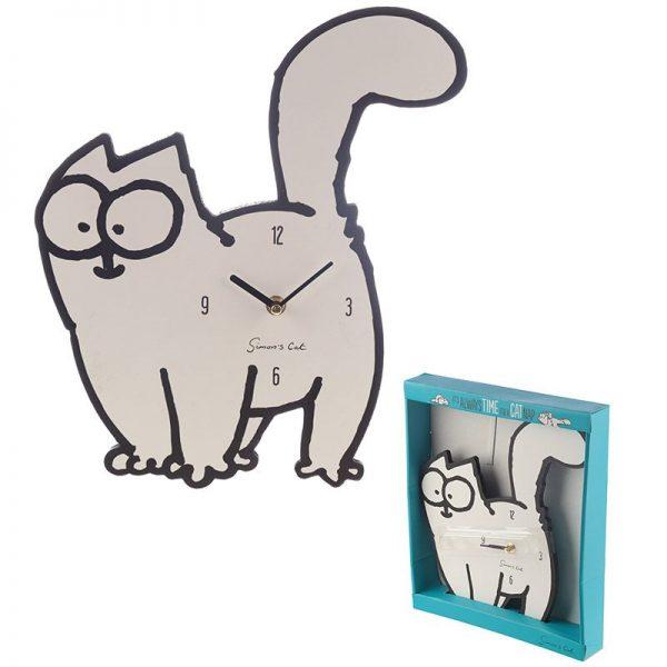 Nástěnné hodiny Simon's Cat 1 - pre milovníkov mačiek