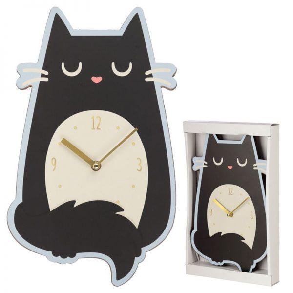Nástěnné hodiny Feline Fine Kočka 1 - pre milovníkov mačiek