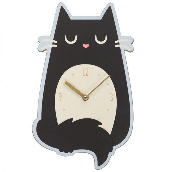 Nástěnné hodiny Feline Fine Kočka 2 - pre milovníkov mačiek