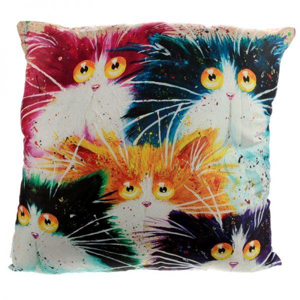 Vankúš - Mačky, design Kim Haskins, 50 x 50cm 1 - pre milovníkov mačiek