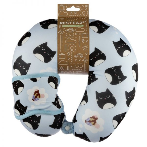 Cestovní polštářek & maska na oči Feline Fine Kočka 1 - pre milovníkov mačiek