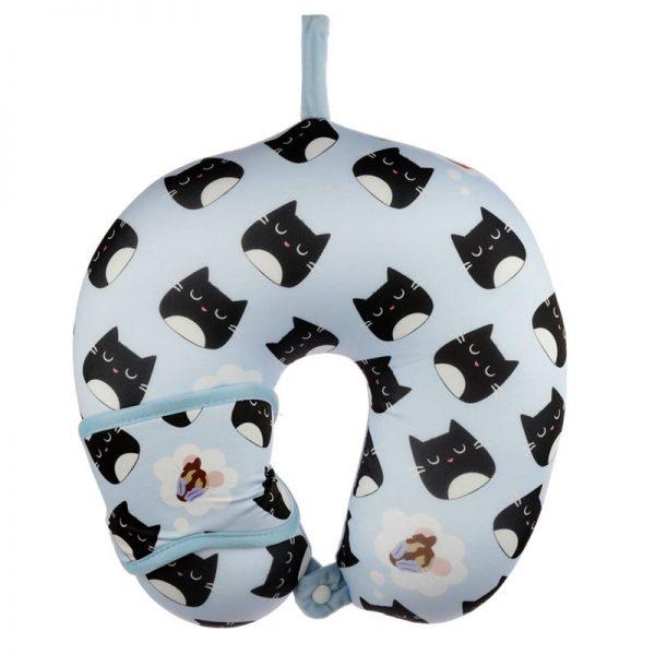 Cestovní polštářek & maska na oči Feline Fine Kočka 5 - pre milovníkov mačiek
