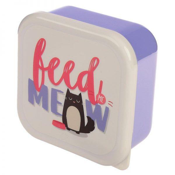 Sada 3 krabiček na jídlo Feline Fine Kočka 4 - pre milovníkov mačiek