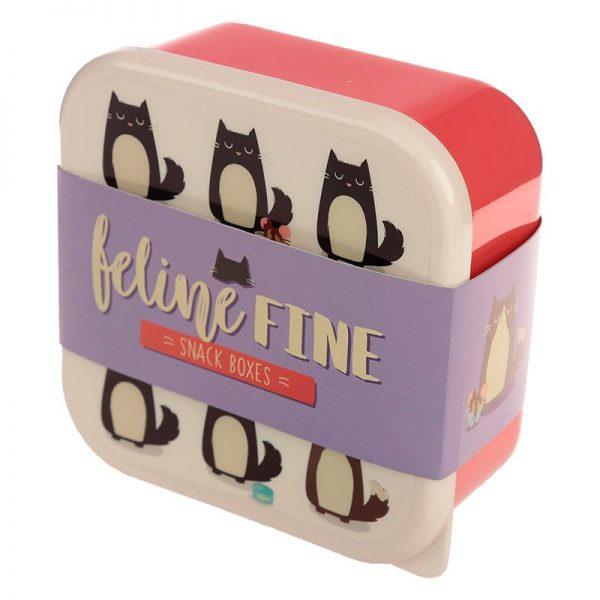 Sada 3 krabiček na jídlo Feline Fine Kočka 6 - pre milovníkov mačiek
