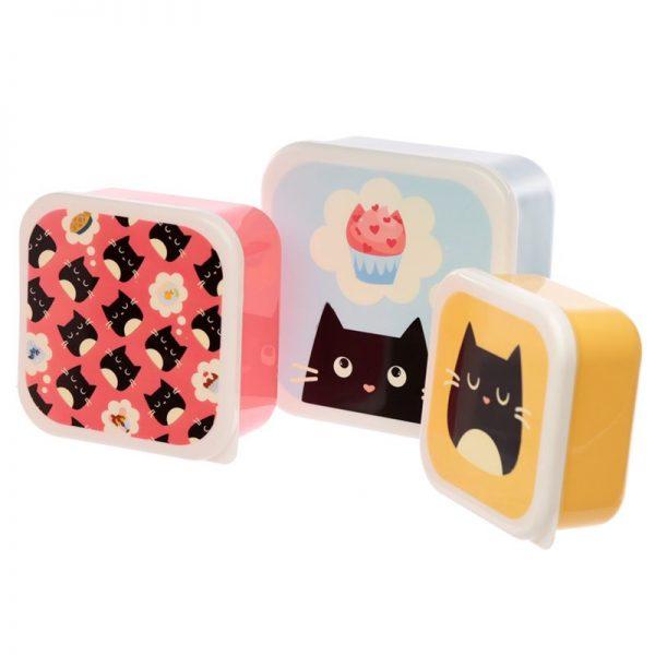 Sada 3 krabiček na jídlo M/L/XL - Feline Fine Kočka 2 - pre milovníkov mačiek