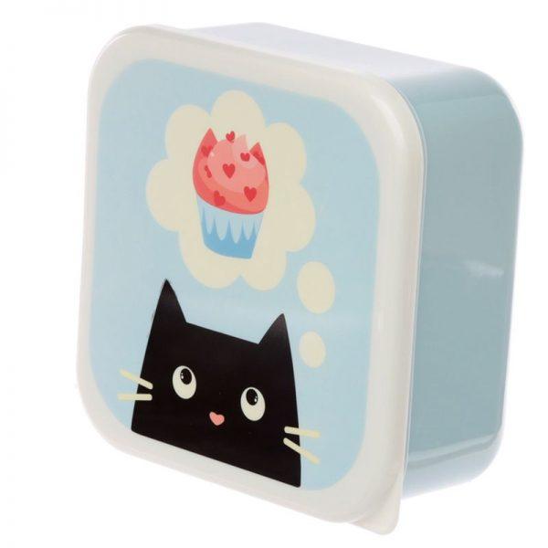 Sada 3 krabiček na jídlo M/L/XL - Feline Fine Kočka 3 - pre milovníkov mačiek