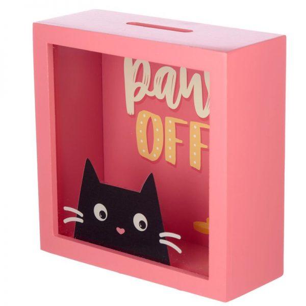 Pokladnička s mačkou Feline Fine mačka - Paws Off 1 - pre milovníkov mačiek