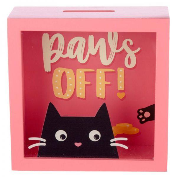 Pokladnička s mačkou Feline Fine mačka - Paws Off 2 - pre milovníkov mačiek