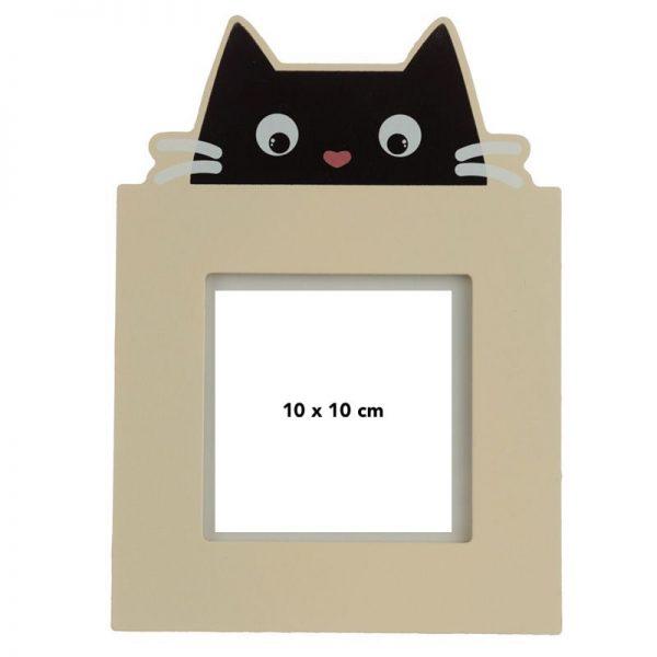 Drevený fotorámik Feline Fine Čierna mačka 1 - pre milovníkov mačiek