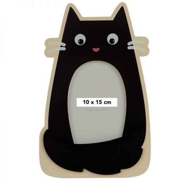 Dřevěný fotorámeček tvarovaný Feline Fine Černá kočka 1 - pre milovníkov mačiek