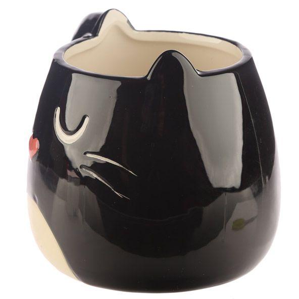 Hrnek ve tvaru černé kočky Feline Fine 3 - pre milovníkov mačiek