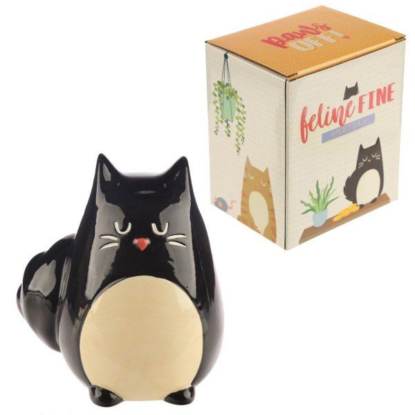 Pokladnička - Čierna mačka Feline Fine 1 - pre milovníkov mačiek