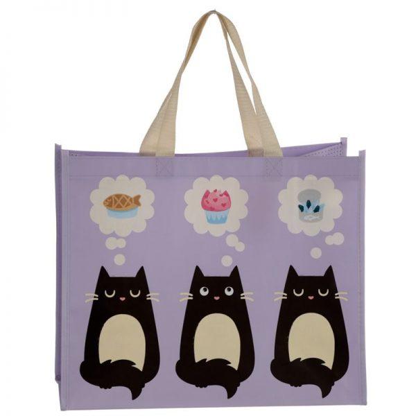 Taška s mačacím motívom - fialová, Feline Fine 5 - pre milovníkov mačiek