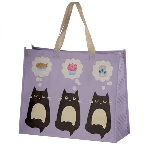 Taška s mačacím motívom - fialová, Feline Fine 4 - pre milovníkov mačiek
