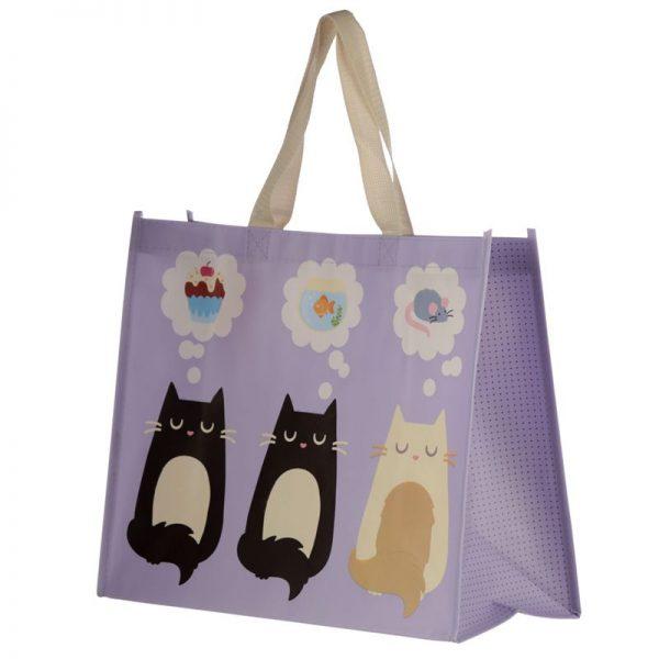 Taška s mačacím motívom - fialová, Feline Fine 3 - pre milovníkov mačiek