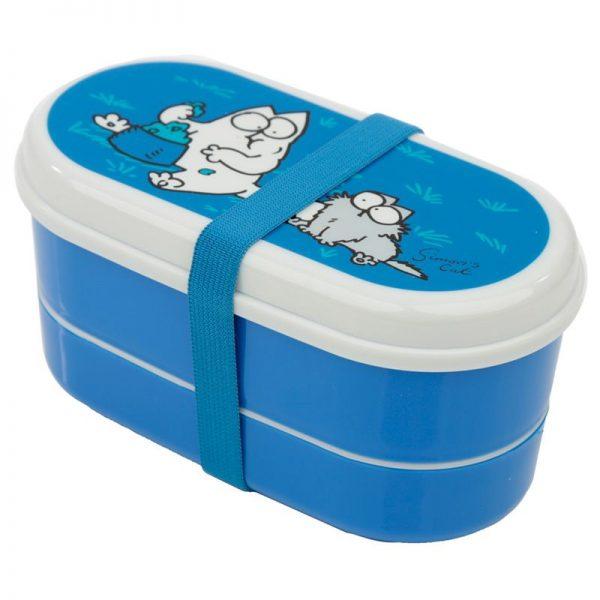 Krabičky na jedlo Simonova mačka - Bento box s vidličkou a lyžičkou Simon's Cat 2 - pre milovníkov mačiek