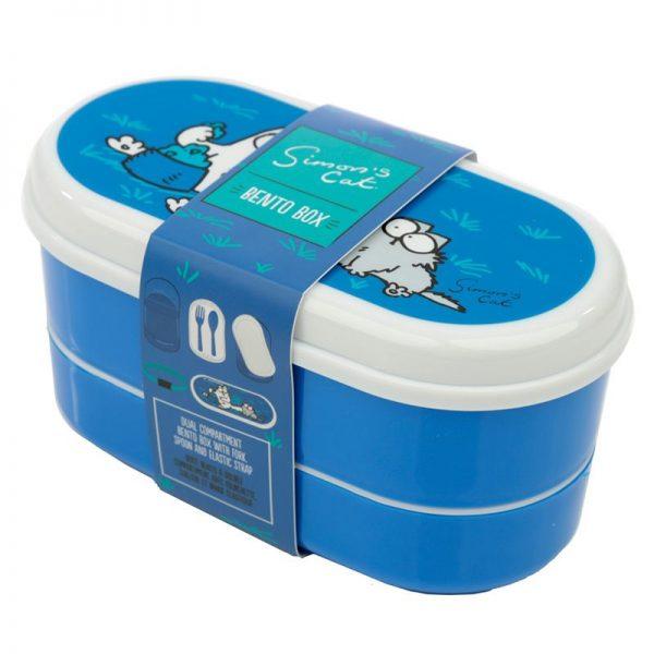 Krabičky na jedlo Simonova mačka - Bento box s vidličkou a lyžičkou Simon's Cat 7 - pre milovníkov mačiek