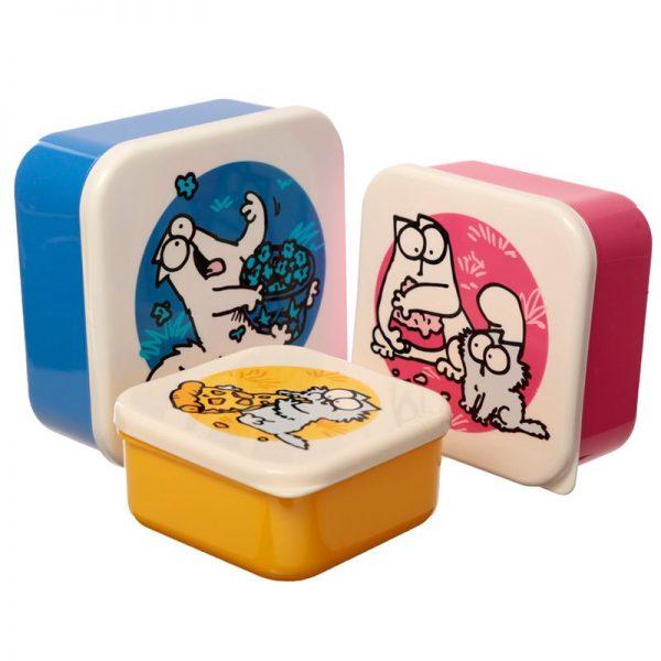 Sada 3 krabičiek na jedlo so Simonovou kočkou - M / L / XL - Simon's Cat 1 - pre milovníkov mačiek