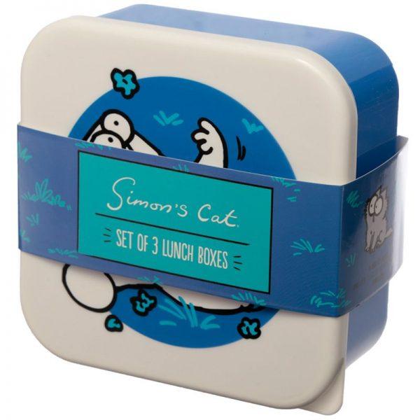 Sada 3 krabičiek na jedlo so Simonovou kočkou - M / L / XL - Simon's Cat 5 - pre milovníkov mačiek
