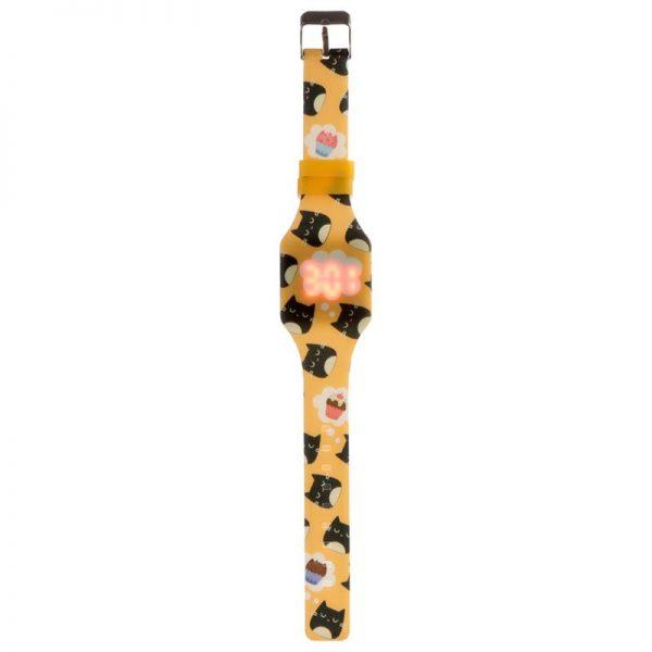 Silikónové digitálne hodinky s mačkou Feline Fine 2 - pre milovníkov mačiek