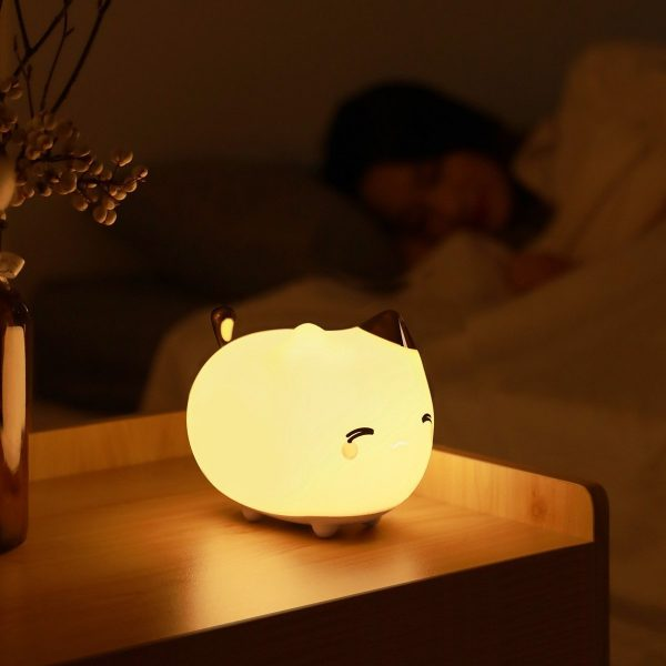 Lampička Baseus - mačička, silikónové nočné svetlo v tvare mačky 7 - pre milovníkov mačiek
