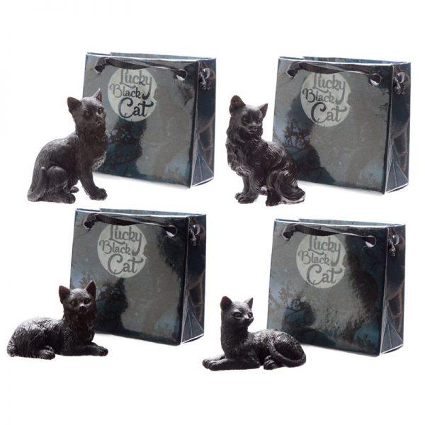 Malá čierna mačka pre šťastie v darčekovej taštičke 1 - pre milovníkov mačiek