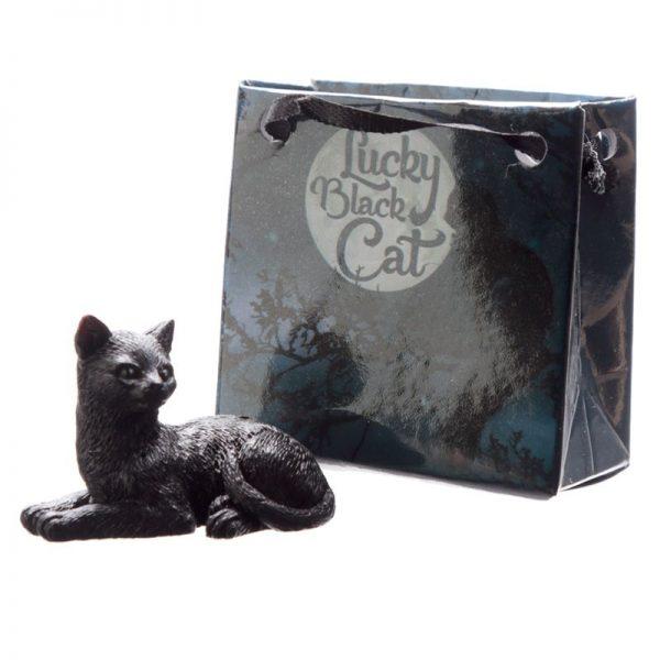 Malá čierna mačka pre šťastie v darčekovej taštičke 4 - pre milovníkov mačiek