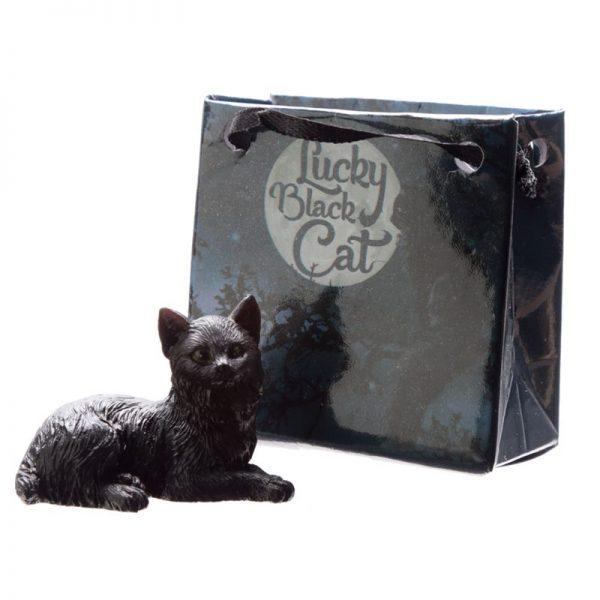 Malá čierna mačka pre šťastie v darčekovej taštičke 3 - pre milovníkov mačiek