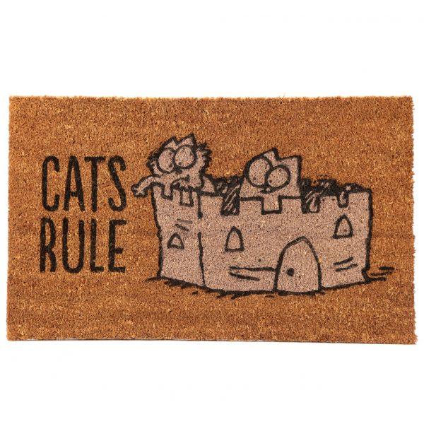 Rohožka z kokosového vlákna s mačacím motívom - Simon's Cat - Cat's Rule 1 - pre milovníkov mačiek
