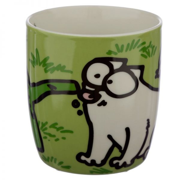 Porcelánový hrnček Simon's Cat - zelený 4 - pre milovníkov mačiek