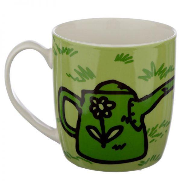 Porcelánový hrnček Simon's Cat - zelený 3 - pre milovníkov mačiek