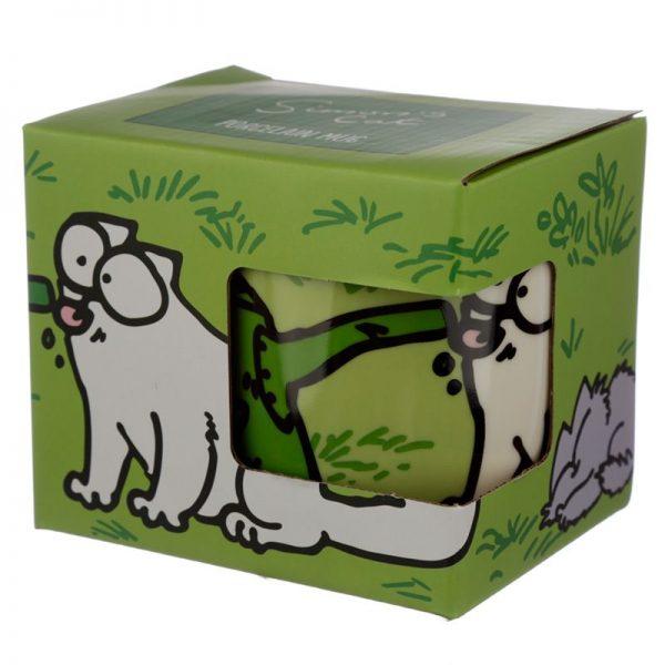 Porcelánový hrnček Simon's Cat - zelený 1 - pre milovníkov mačiek